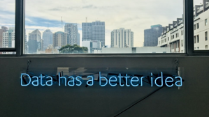 Data has a better idea sign